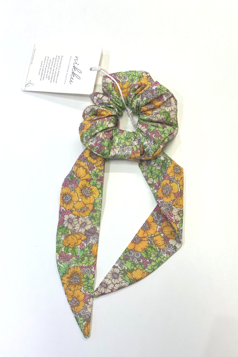 SCRUNCHIE bow monsoon floral